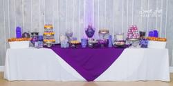 Purple Wedding Dessert & Candy Bar