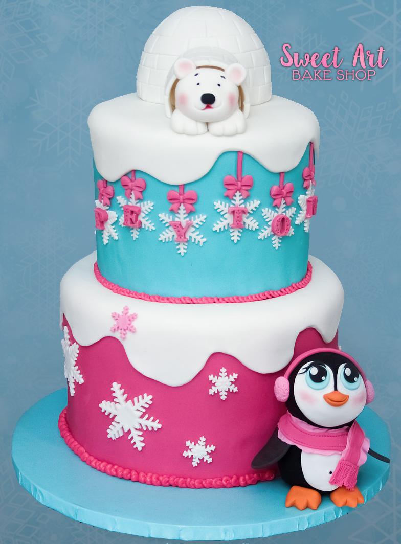 Peyton's Winter ONE-derland Cake