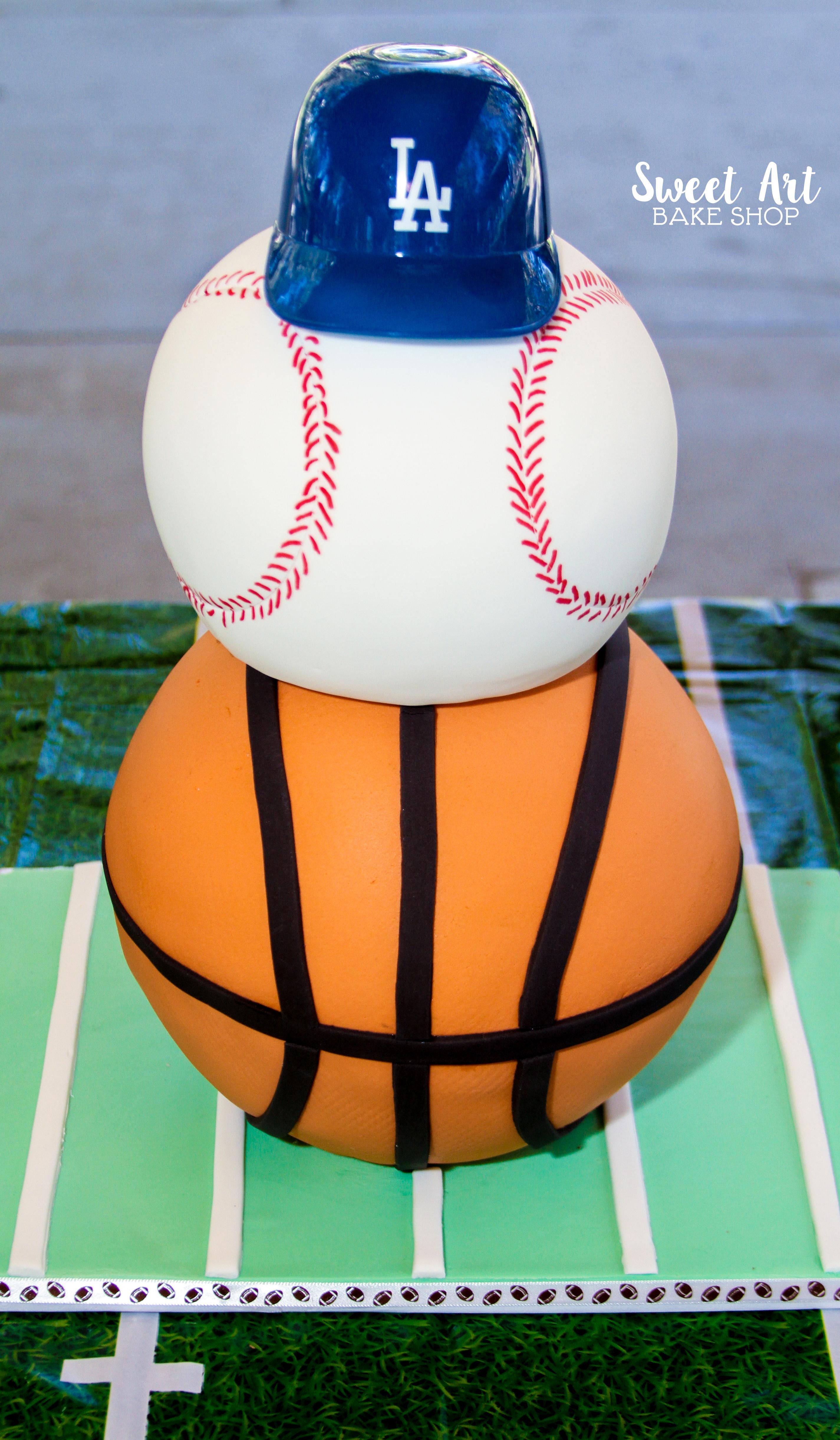 Baseball & Basketball Cake