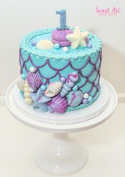 Mermaid Smash Cake