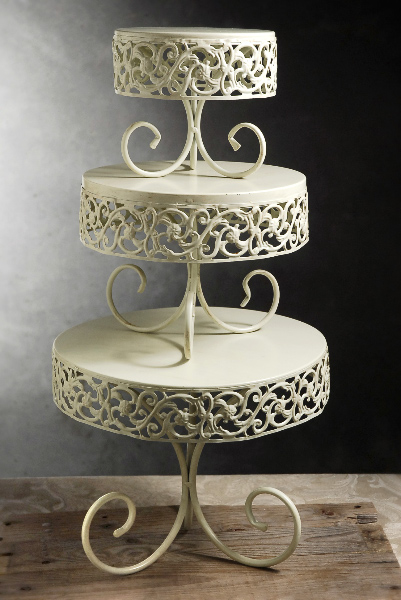 Antique Scroll Cake Stands