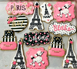Paris Bridal Shower Cookies