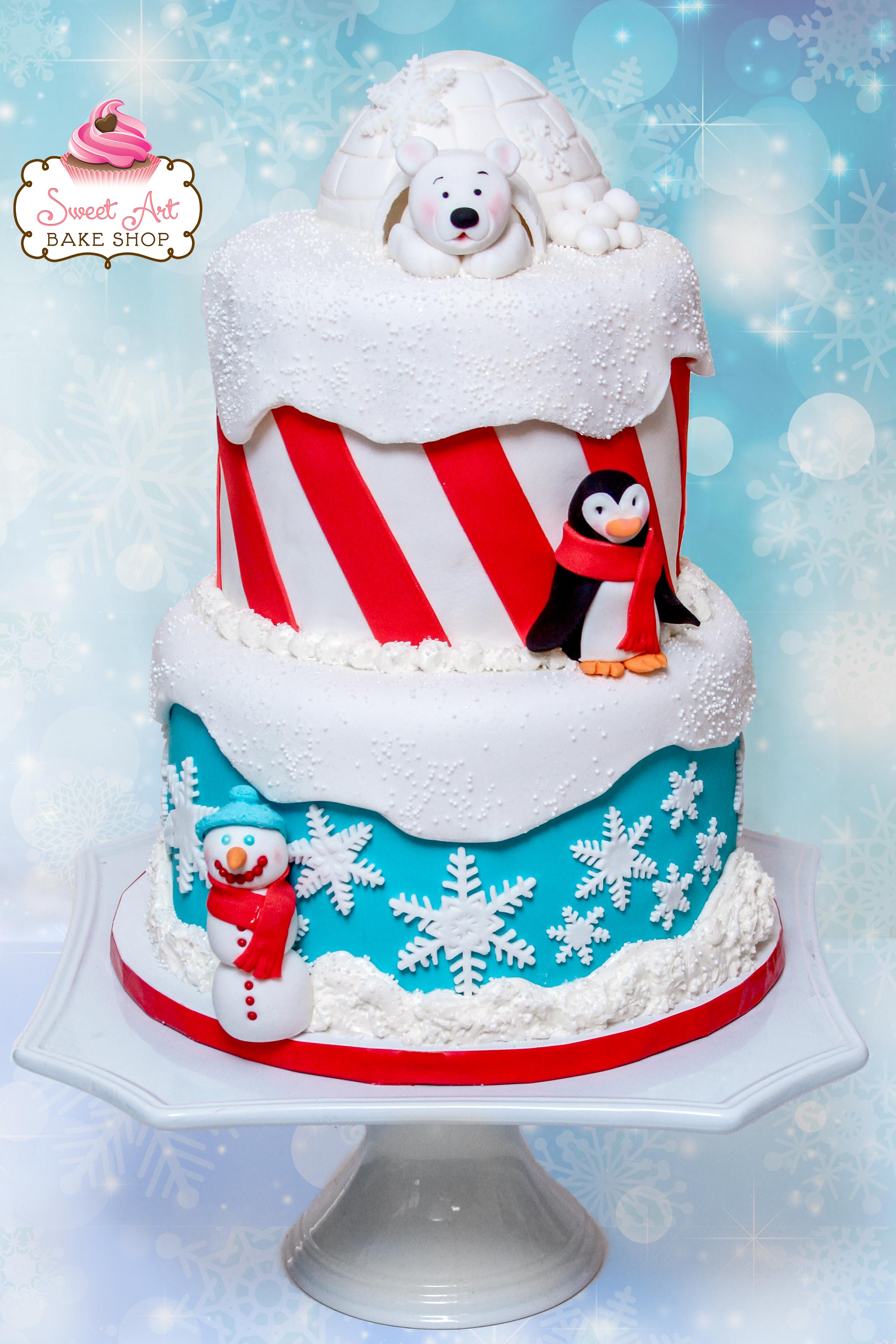 Winter ONE-derland Cake
