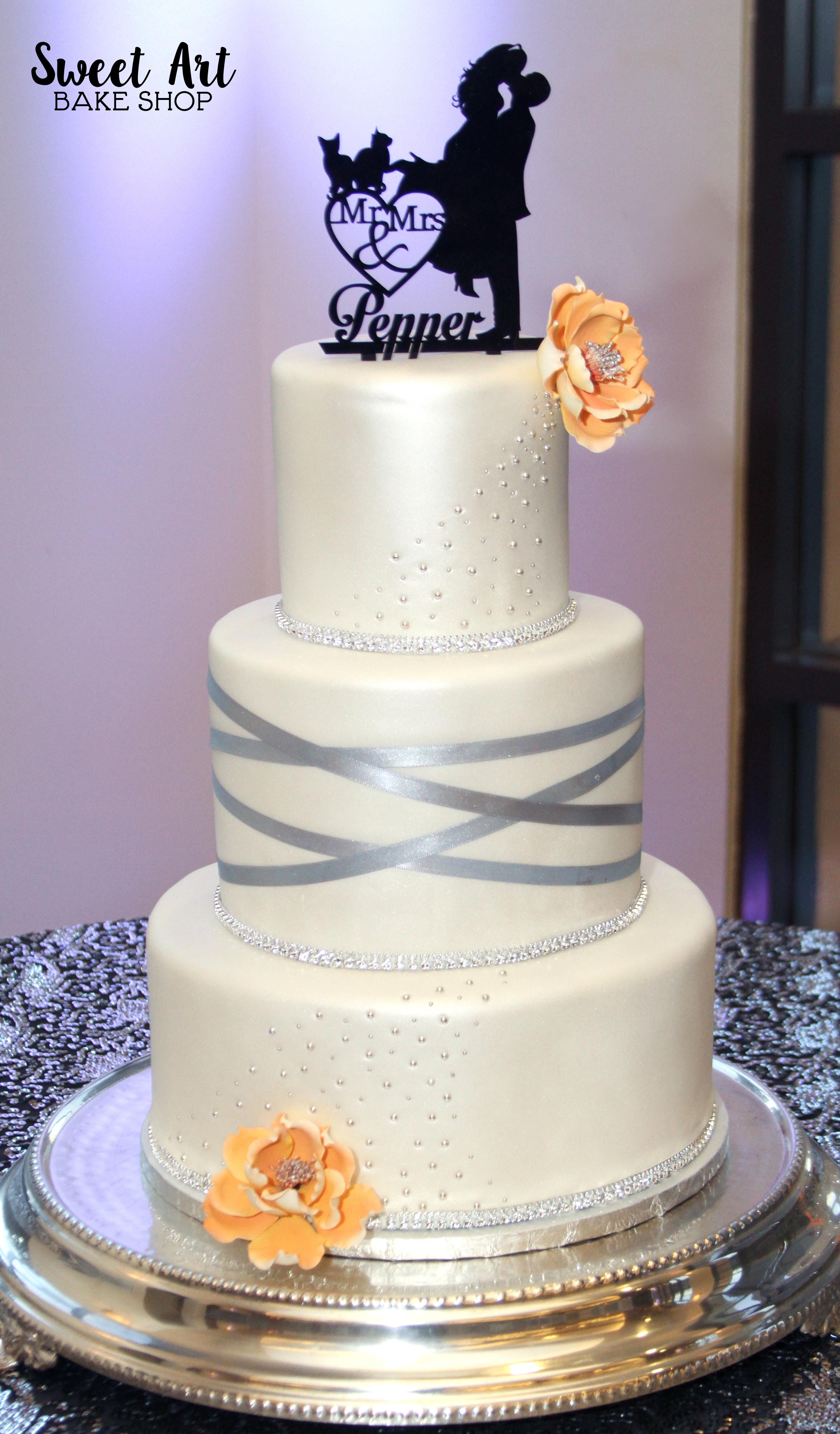 Tori & Brian's Wedding Cake