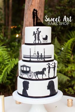 Shannon & Danny's Love Story Cake