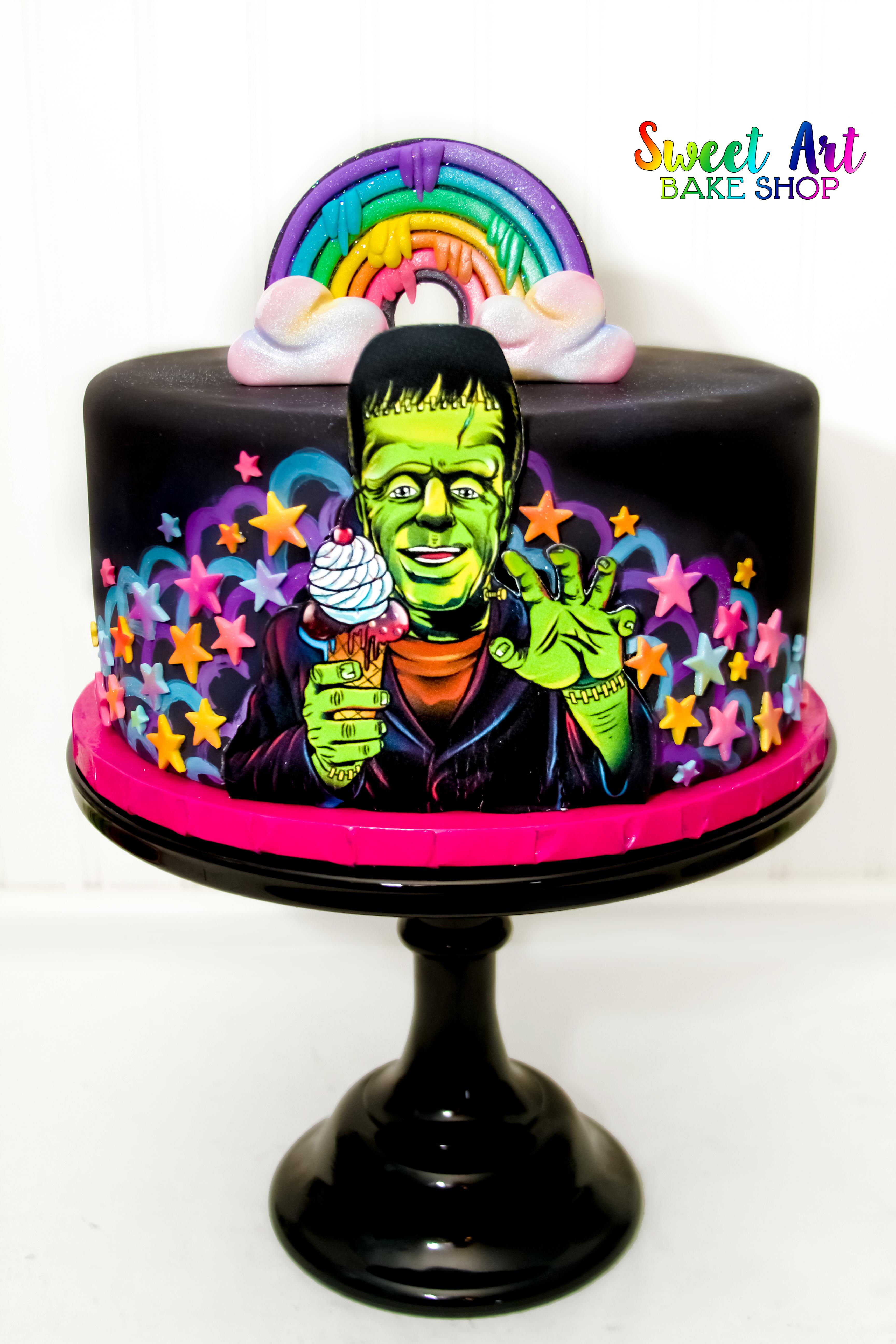 Lisa Frankenstein Cake