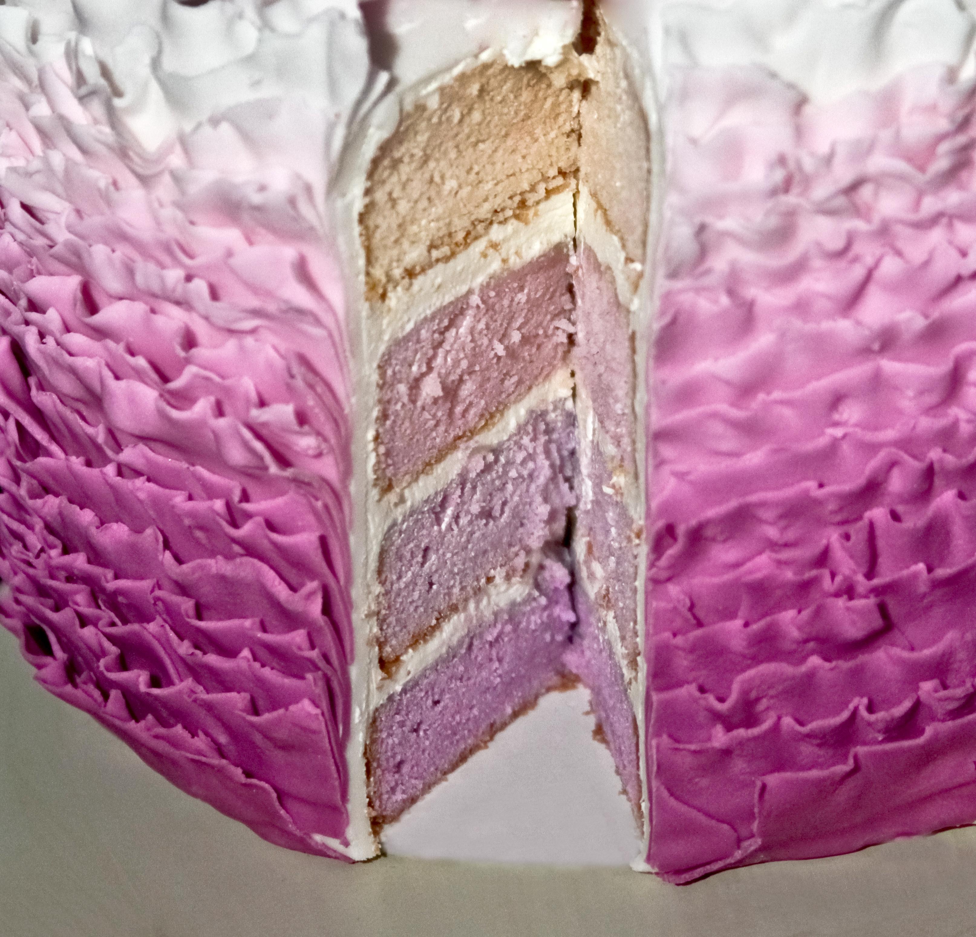 Ombre Fondant Frills Cake