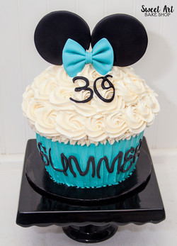 Teal Minnie Mouse Cake