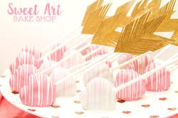Cupid's Arrow Cake Pops