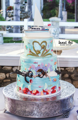 Scuba Diving Wedding Cake