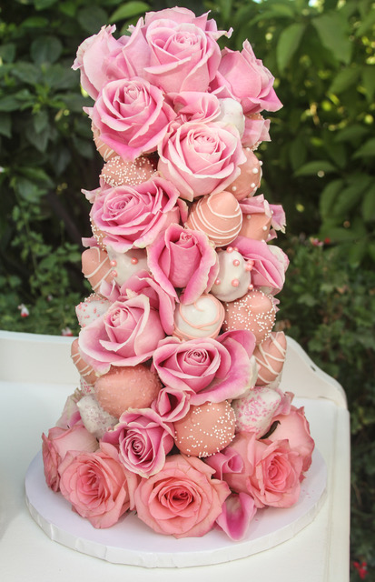 Chocolate Dipped Strawberry Tower