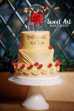 Beauty and the Beast Wedding Cake