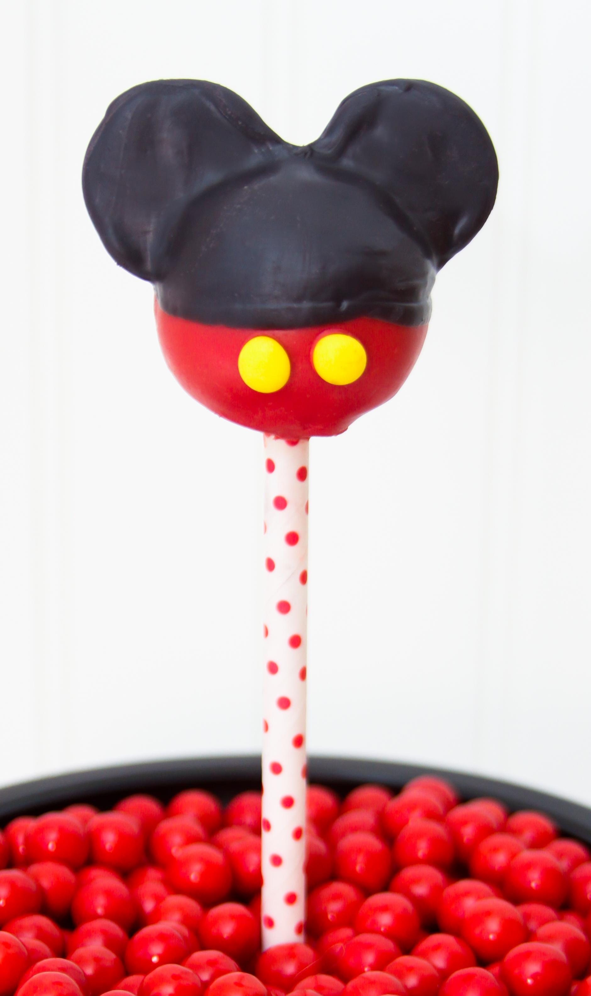 Mickey Cake Pops $4