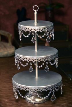 Silver Cupcake & Dessert Stand