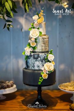 Modern Springtime Cake
