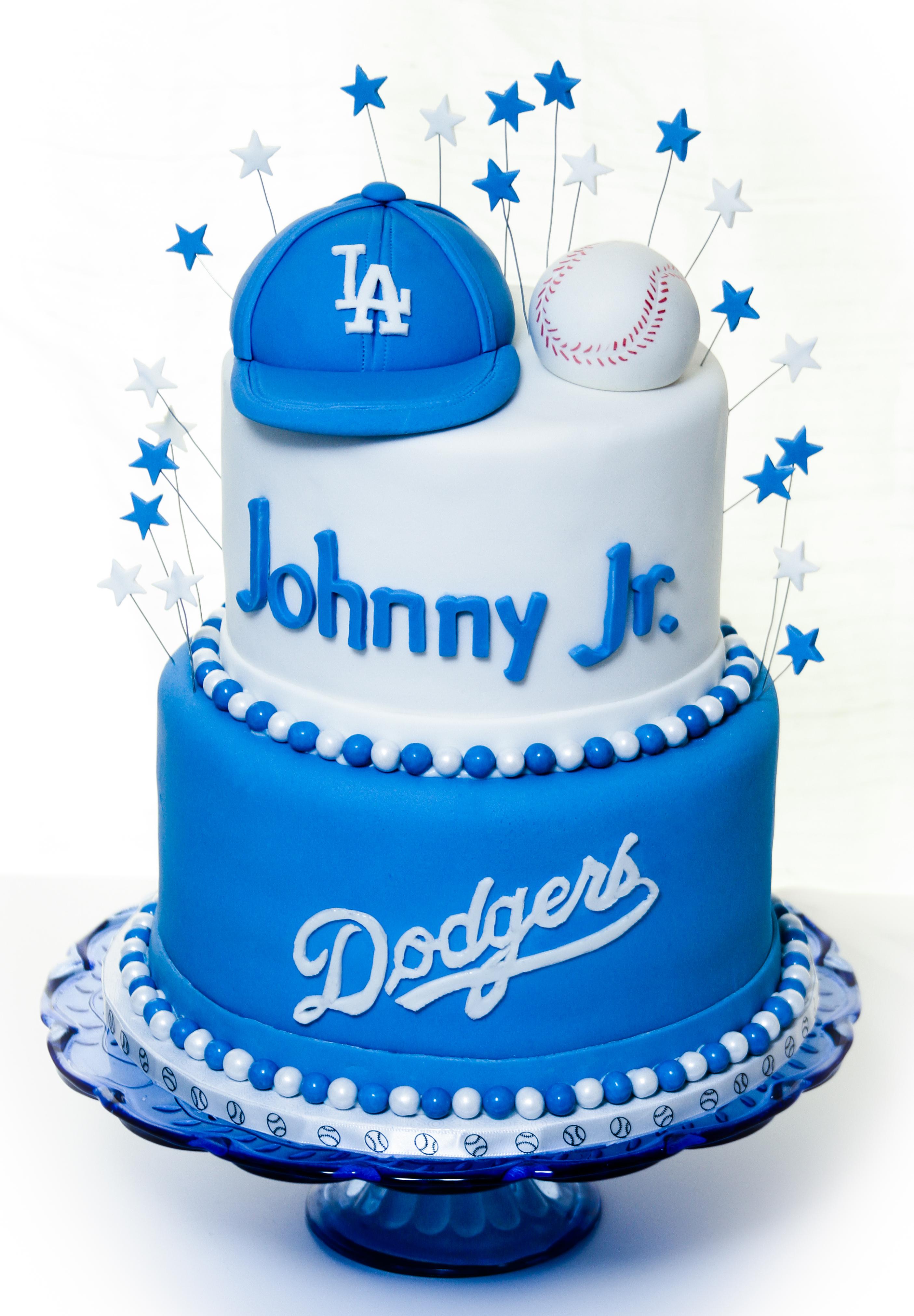 Dodger Baby Shower Cake