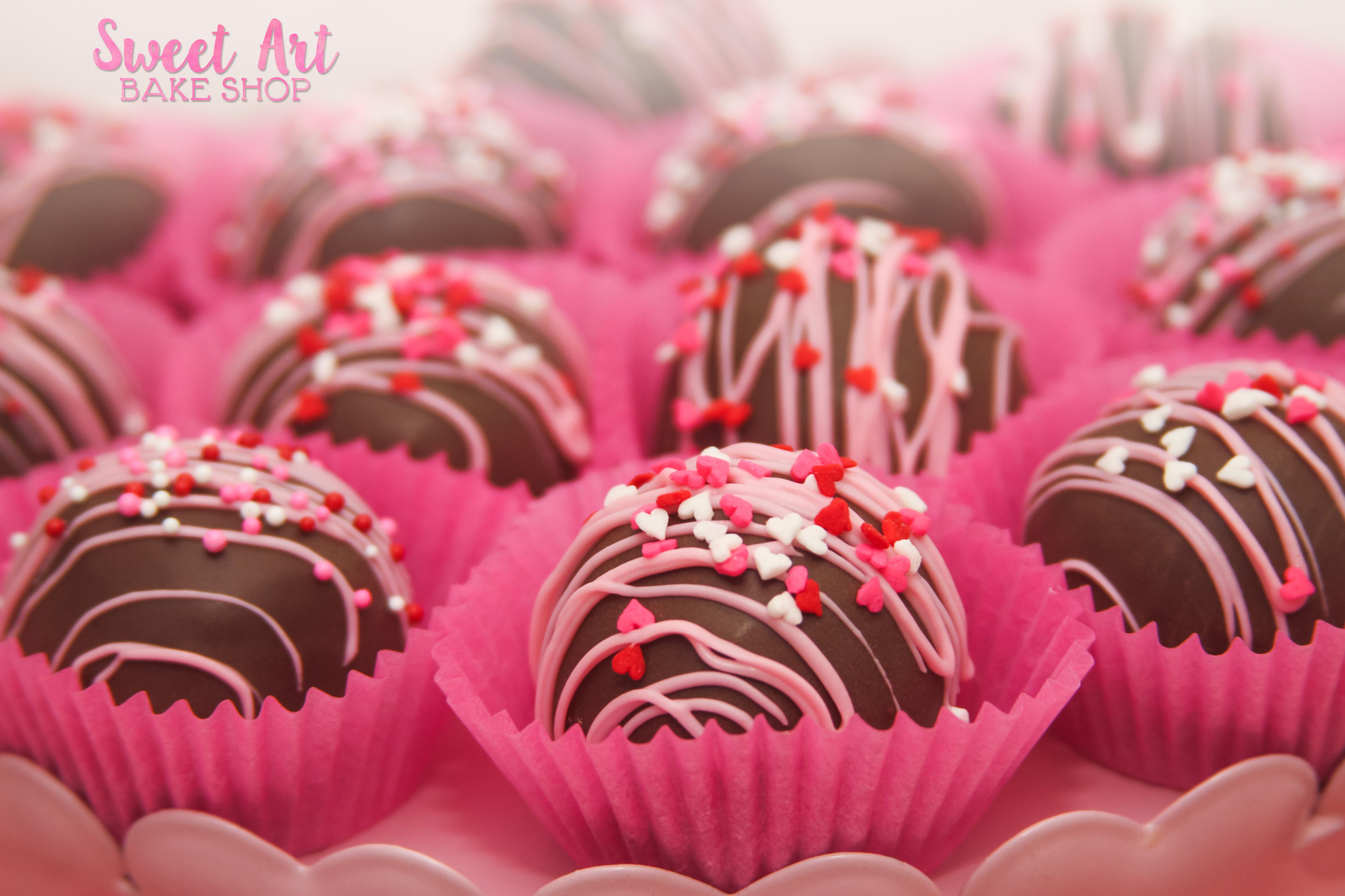 Valentine Cookie Dough Truffles