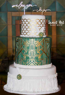 Art Deco Gatsby Wedding Cake