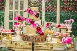 Pink & Gold Wedding Dessert Bar