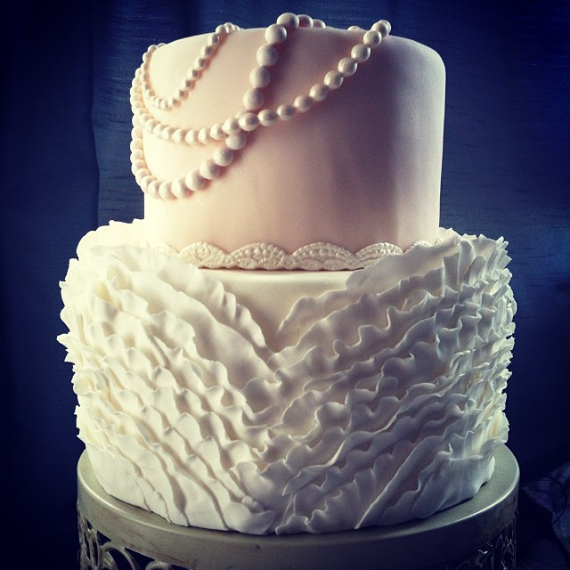 Top of Wedding Dress Cake