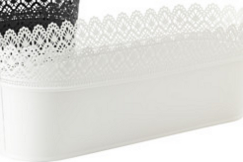 White Wide Lace Bucket for Cake Pops & Pie Pops