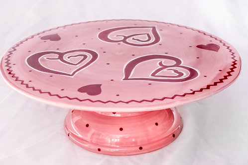 """12"""" Pink Sweetheart Cake Stand"""