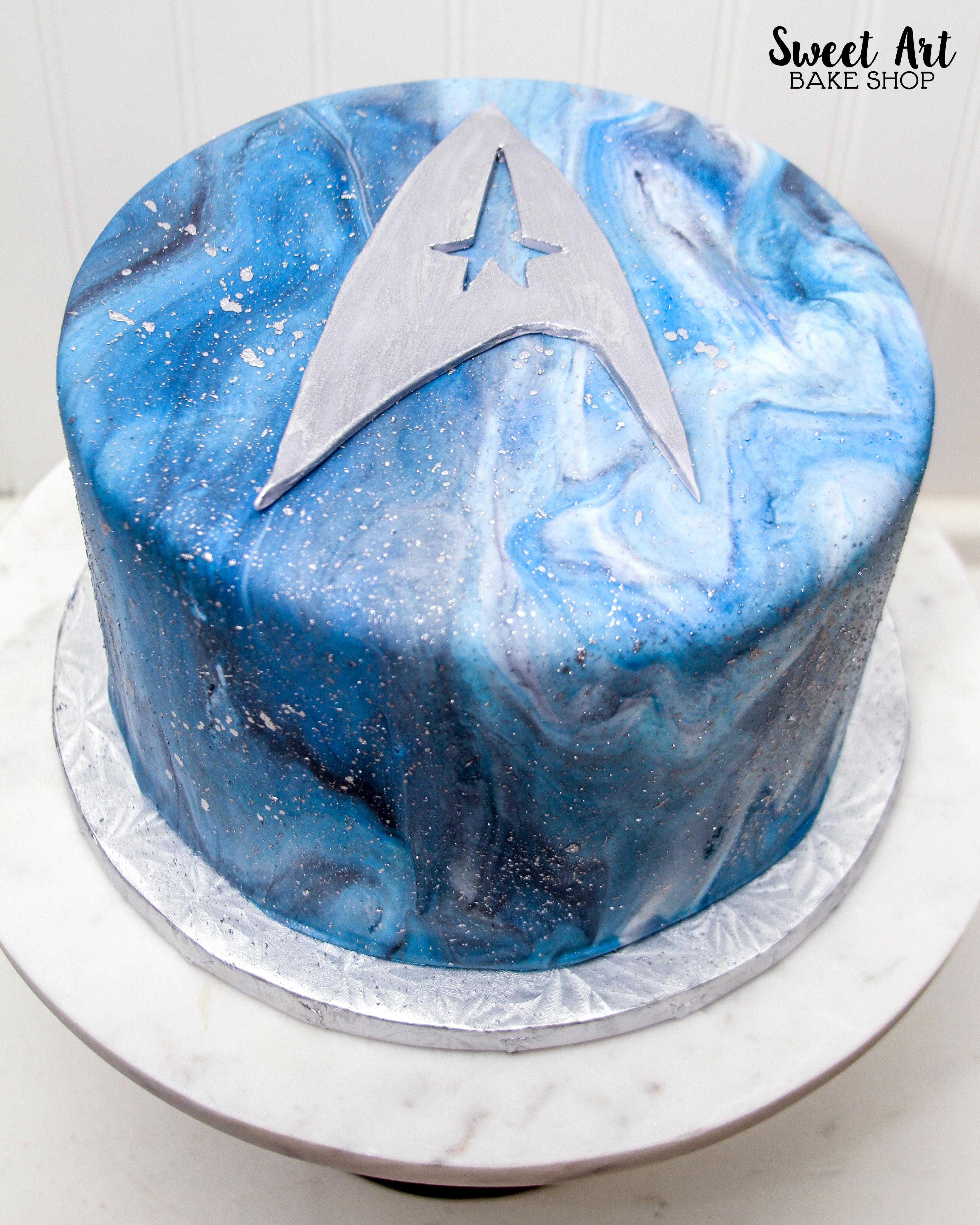 Jackie's Star Trek Cake