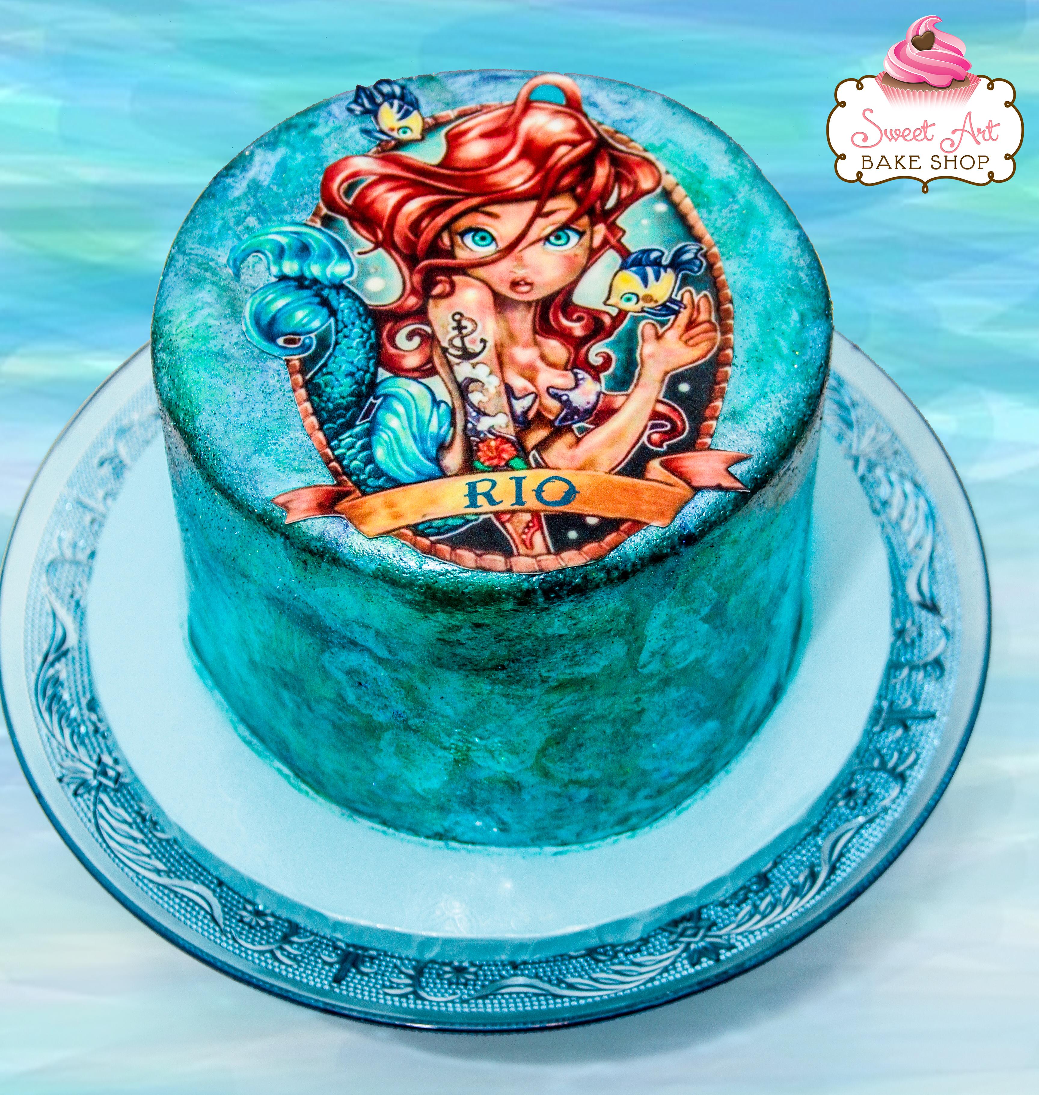 Rio's Sexy Mermaid Cake