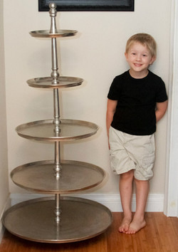 Giant Silver Tiered Dessert Stand