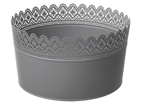Gray Lace Bucket for Cake Pops & Pie Pops