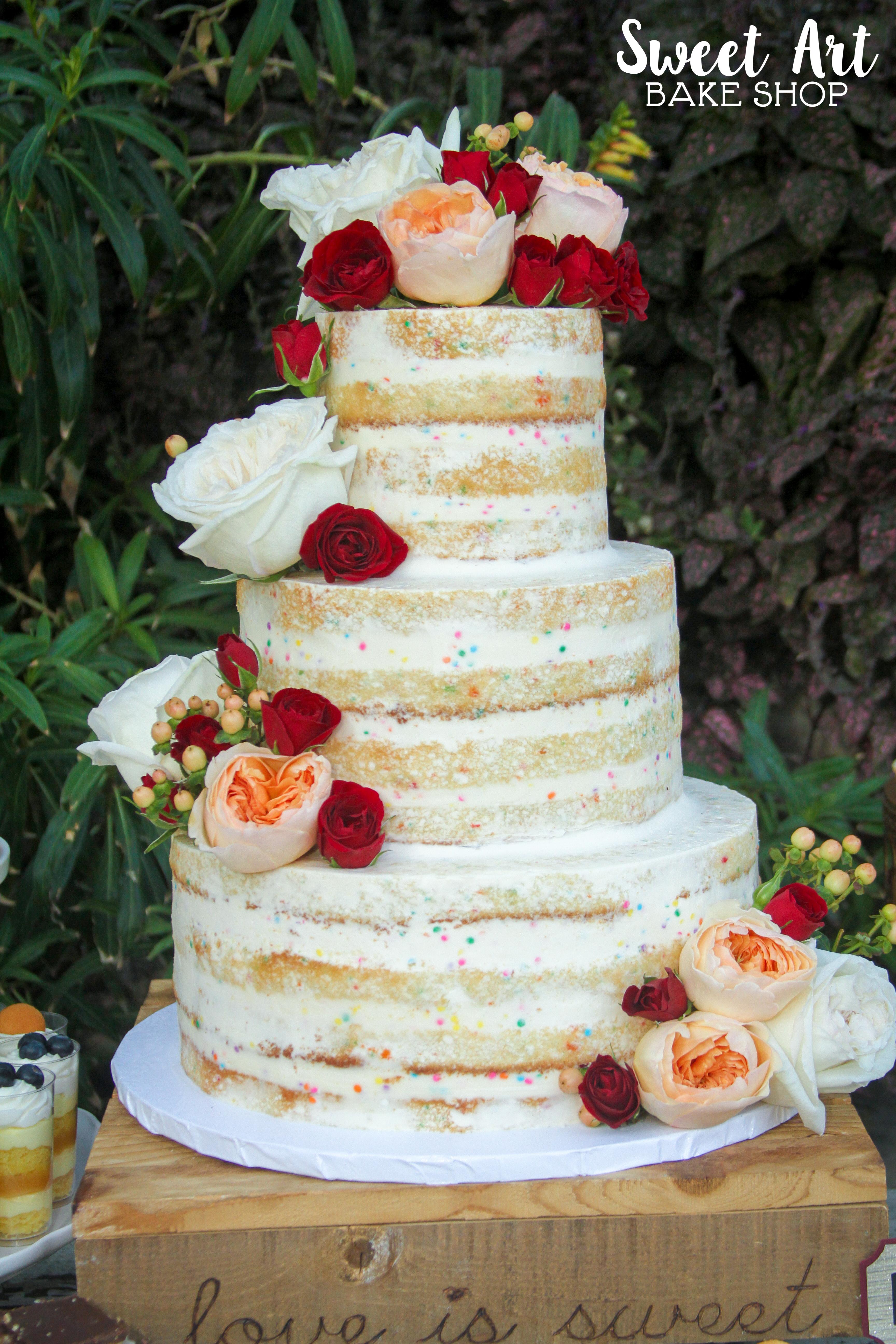Funfetti Naked Cake