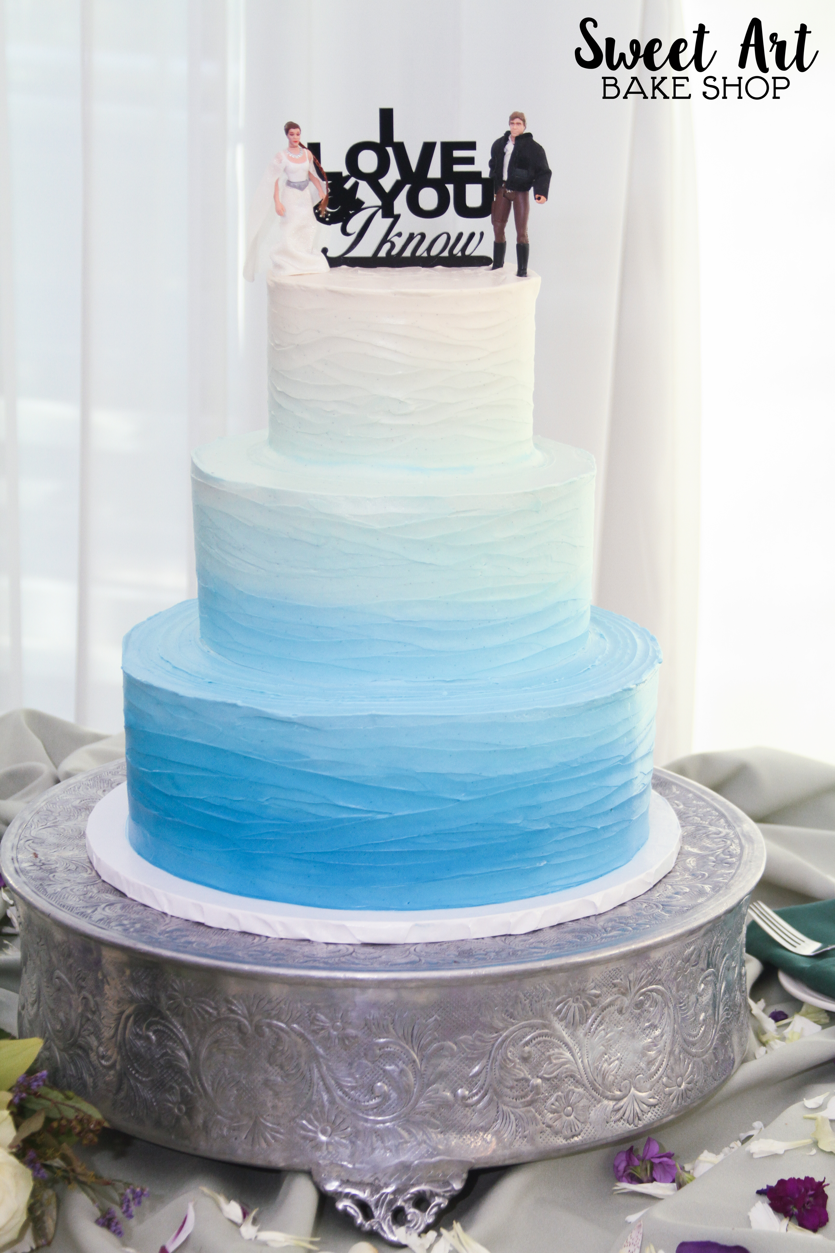 Blue Ombre Star Wars Cake