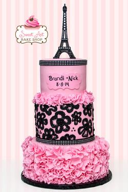 Paris Engagement Cake