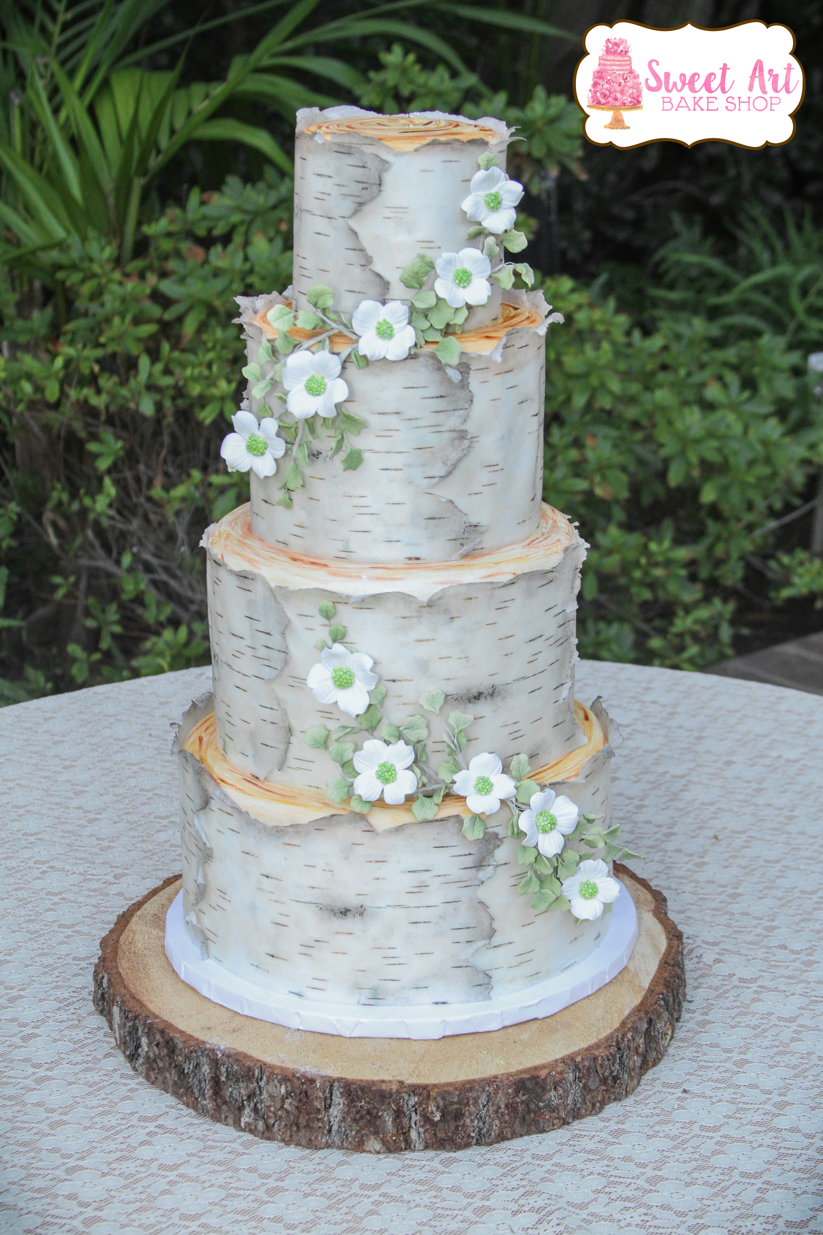 Dana & Jesse's Birch Tree Cake