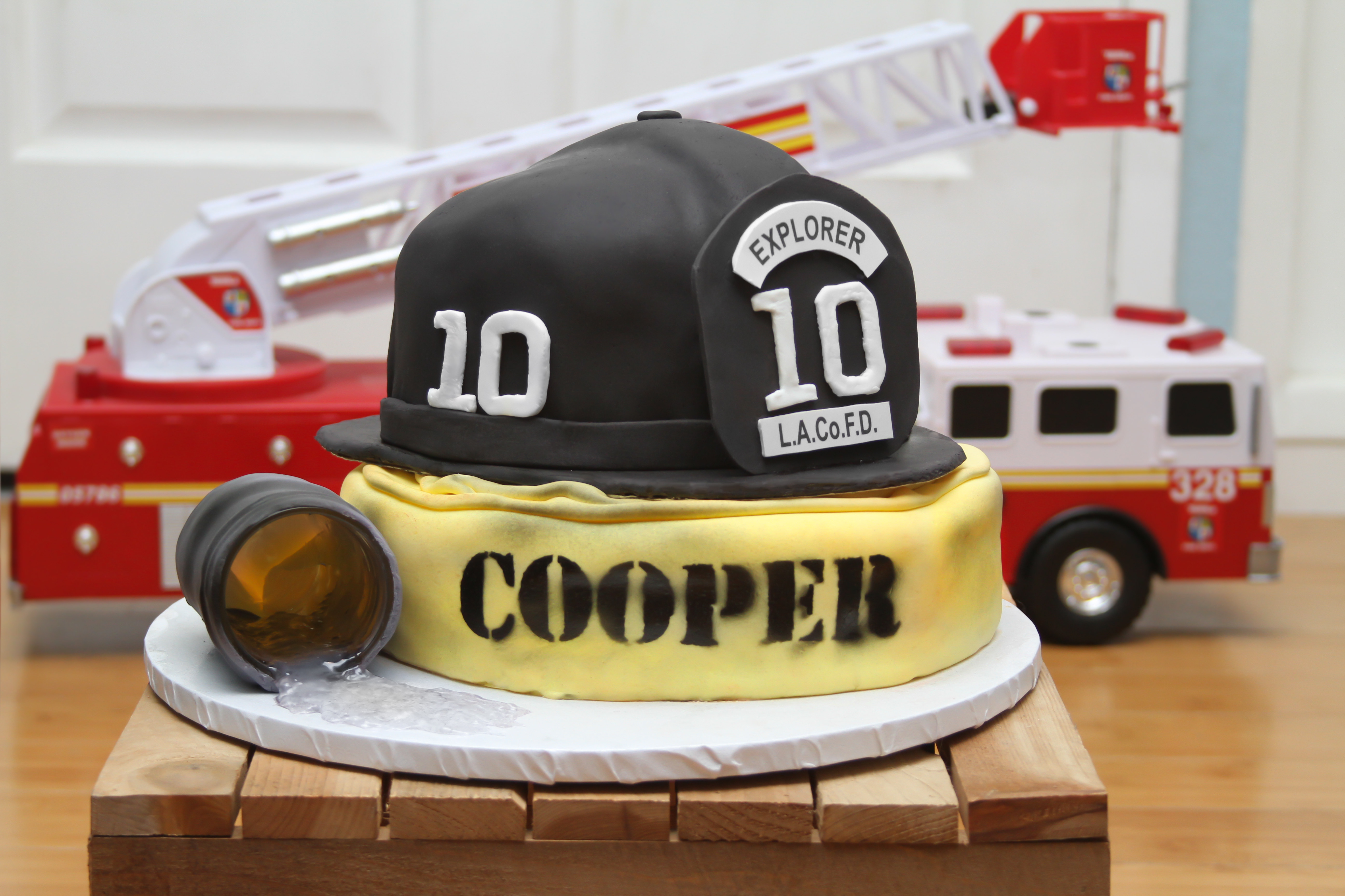 Fire Academy Graduation Cake