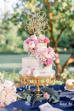 Marcy & Alejandro's Naked Cake