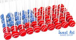 American Flag Cake Pops $2.50