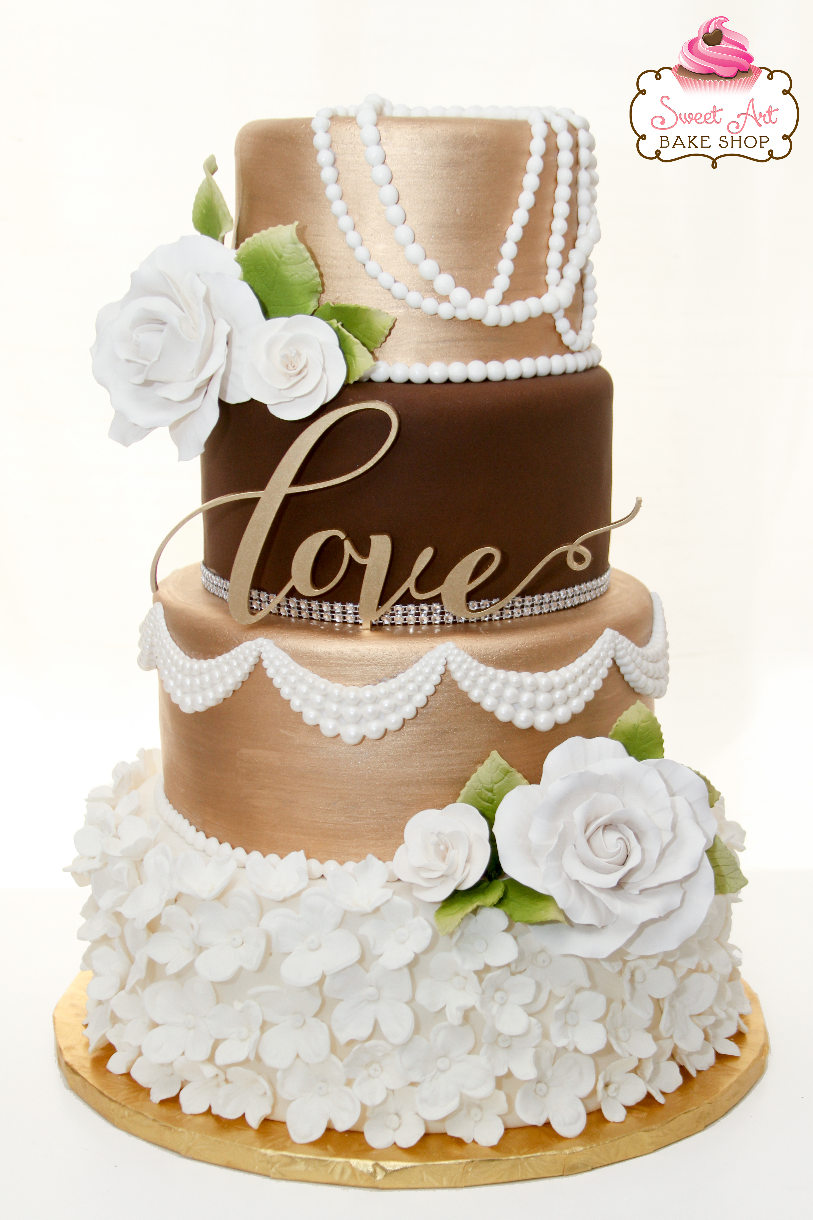 Karina & Gesler's Wedding Cake