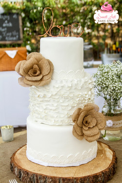 Rustic Burlap, Lace and Ruffles