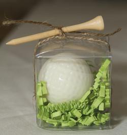 White Chocolate Golf Ball Favor
