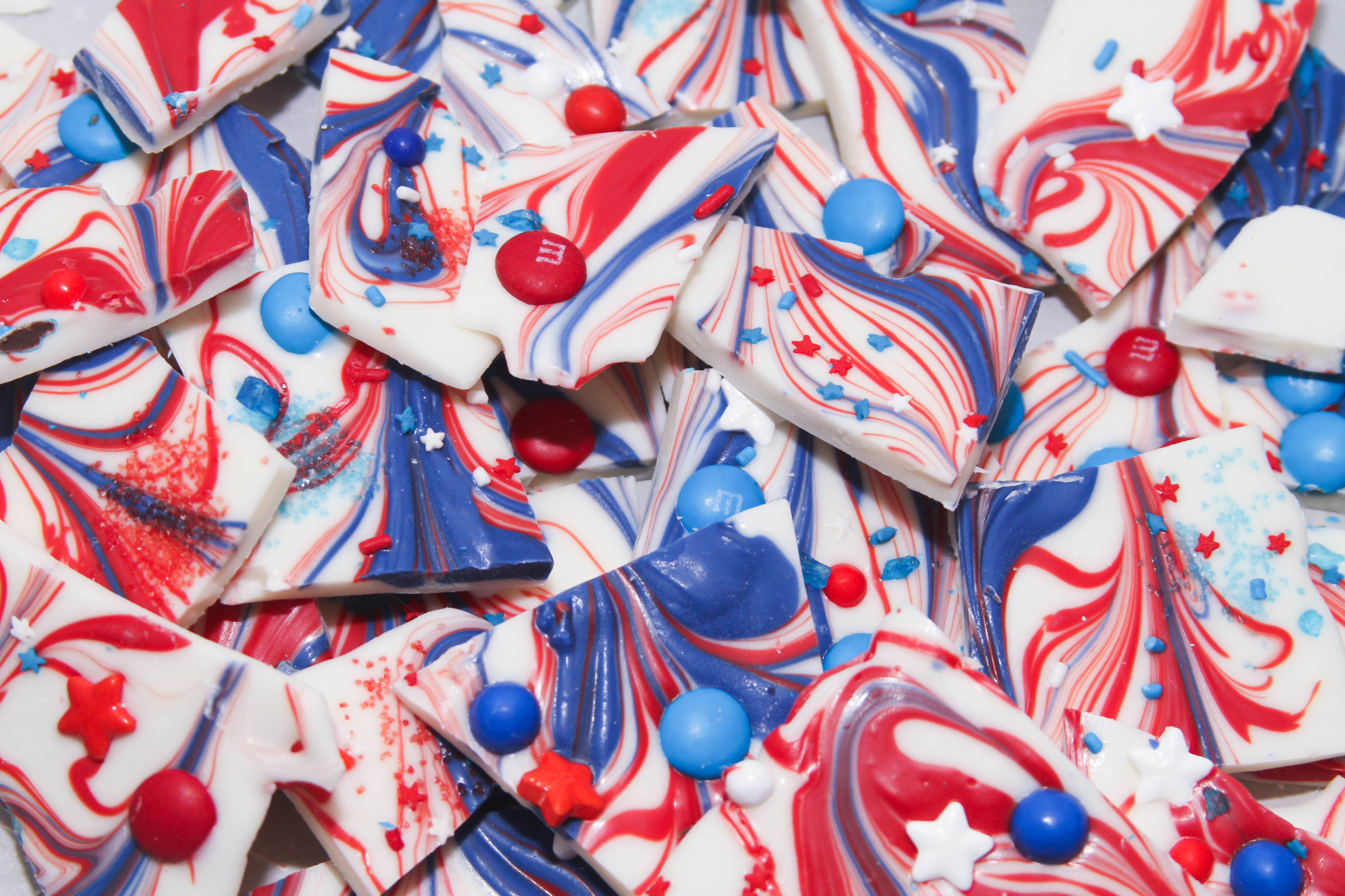 Red, White, and Blue Bark