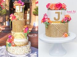 Gold Chain Anniversary Cake