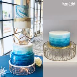 Starry Dreams Anniversary Cake