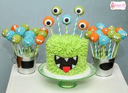Monster Cake Pops $3