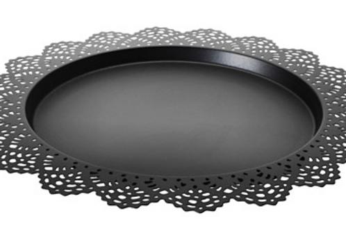 """15"""" Black Lace Platter"""