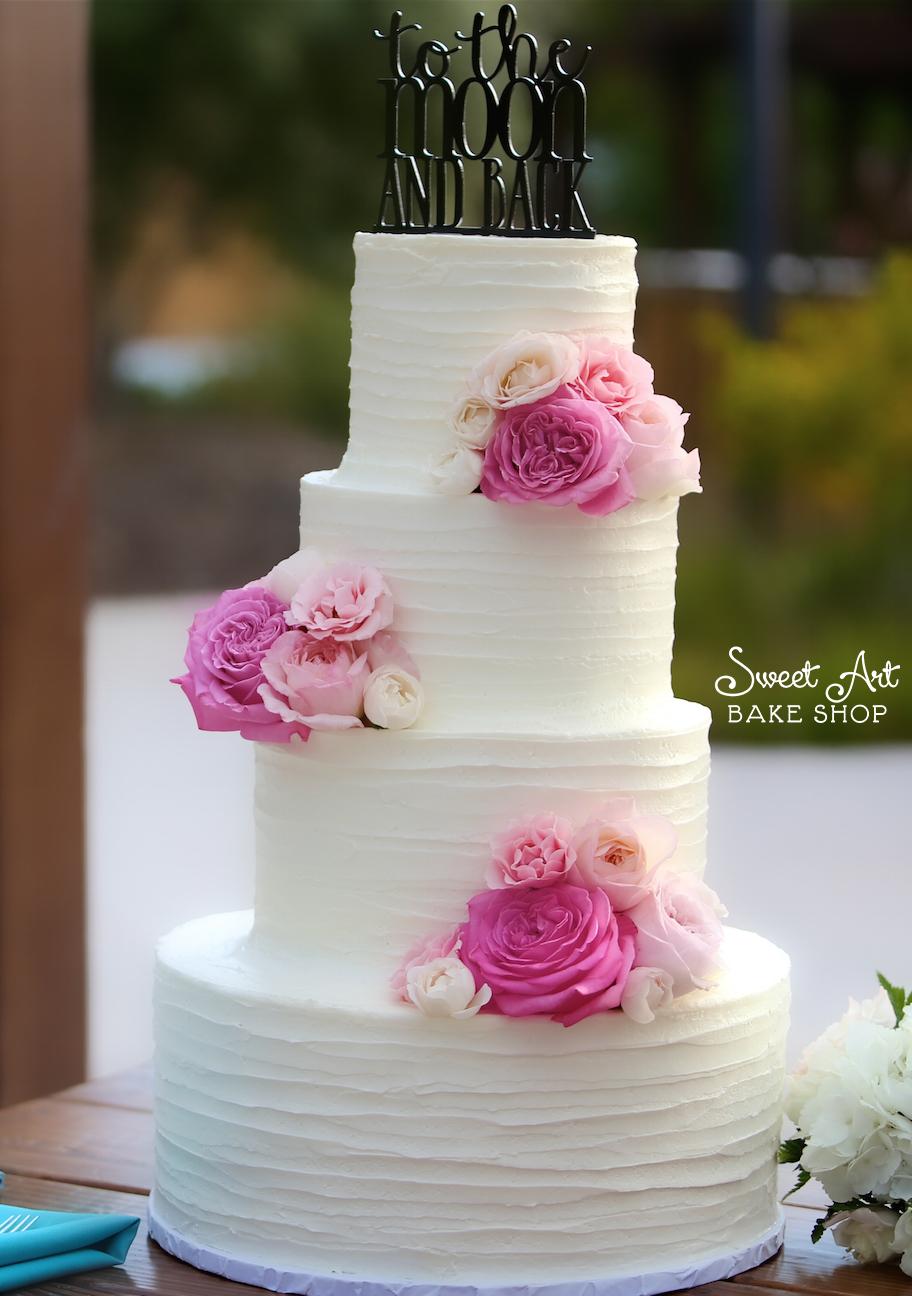 Amanda & AJ's Wedding Cake
