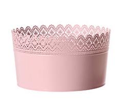 Pink Lace Round Bucket