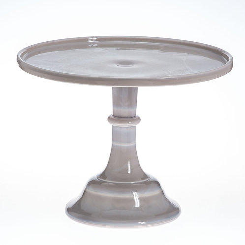"""12"""" Gray Marble Glass Cake Stand"""