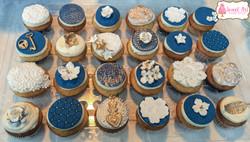 Navy & Gold Wedding Cupcakes