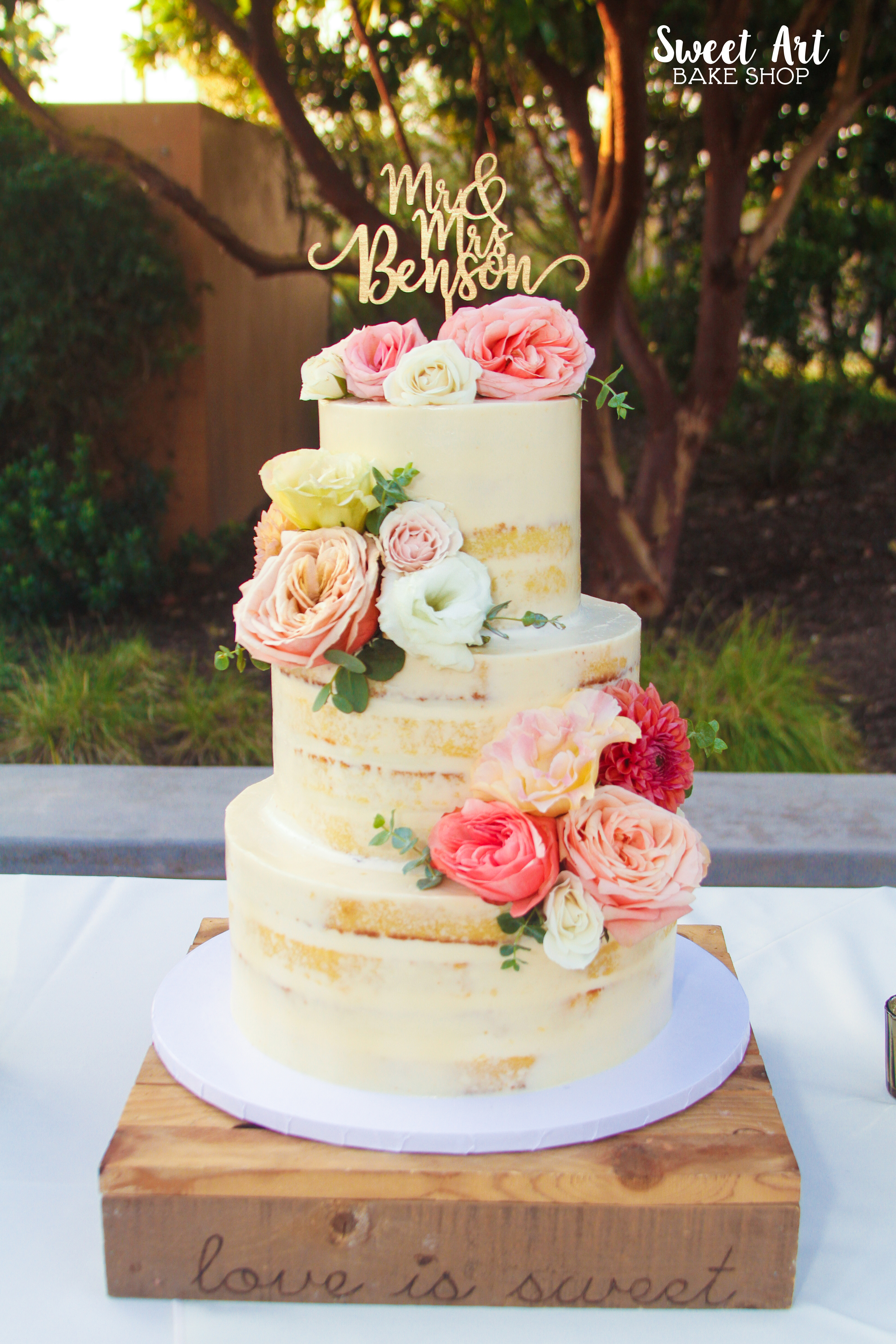 Stephanie & Ray's Naked Cake